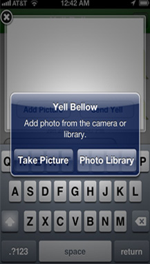 YellBellow - Add pictures to your yells
